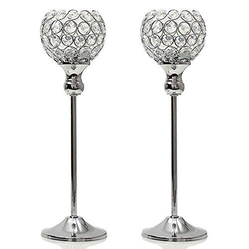 VINCIGANT Kristall Kerzenhalter Sets Metall Kerzenständer Dekoration Kerzenhalter Teelichthalter
