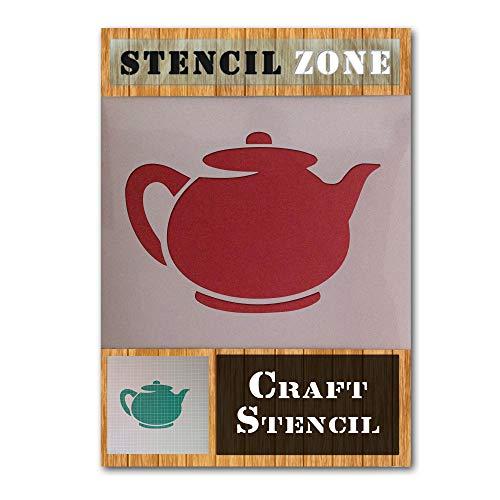 Teekanne Küche Kaffee Tasse Mylar Airbrush Malerei Wandkunst Handwerk Schablone 1, plastik, A1 Size Stencil - Xlarge