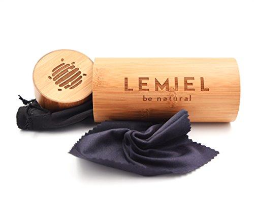 LEMIEL - DAS ÖKO-BRILLENETUI - Hartcase aus Bambus - Echtholz - Case - Aufbewahrungsbox - Naturprodukt - BUY ONE. PLANT ONE. (Natur)