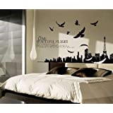 Miihome Removable Wall Decal Sticker - Beautiful FLights