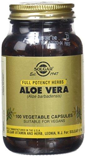 Solgar Integratore Alimentare di Aloe Vera Utile alla Funzione Digestiva ed Intestinale - 100 Capsule Vegetali