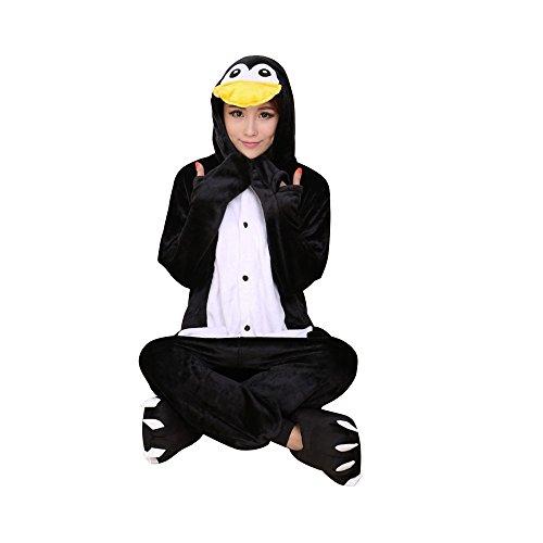 OCHENTA Femme Costume Cosplay Anime Animal Combinaison Pyjama Vetement de Nuit Flanelle Penguin