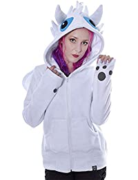 Sudadera blanca con capucha
