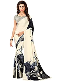 Paaneri Wheat Color With Black Crape Printed Saree_17120651222