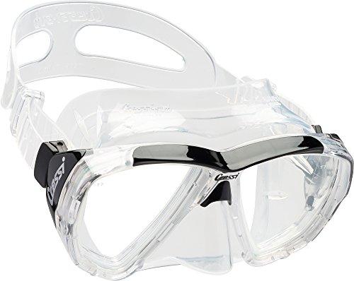 Cressi Ojos Grandes de Buceo Snorkeling Amplia Vista-Máscara de Buceo Italiano Calidad Desde 1946, Transparent/Black