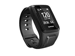 TomTom Runner 2 Cardio + Music - Montre GPS - Bracelet Fin Noir / Anthracite (ref 1RFM.001.06)