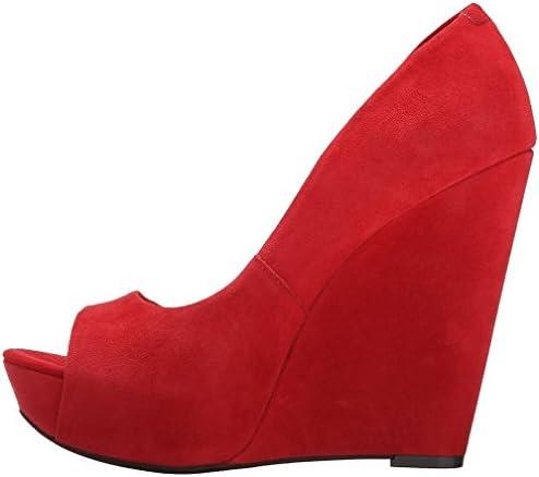 Calaier Mujer Calake Tacón Ancho 14CM Sintético Ponerse Zapatos de Tacón