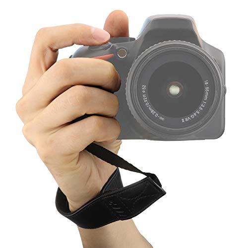 MegaGear Ultraleichte Handschlaufe aus Leder für Alle Kamera - Schwarz