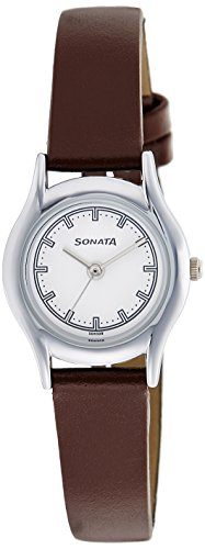 Sonata Essentials Analog White Dial Women's Watch-87020SL01