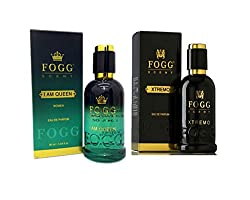 COMBO PACK OF FOGG XTREMO PERFUME 90 ML + FOGG I AM QUEEN PERFUME FOR WOMEN 90 ML