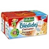 Blédina blédidej brique de lait et céréales biscuité saveur vanille 4x250ml dès 12 mois