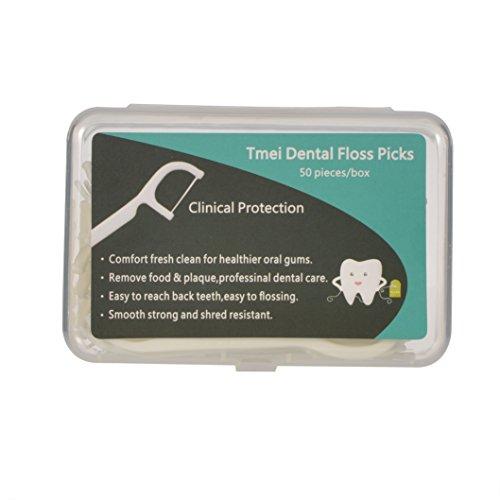 tmei 100pc filo interdentale stuzzicadenti interdentale Flosser denti Clean Orale Cura