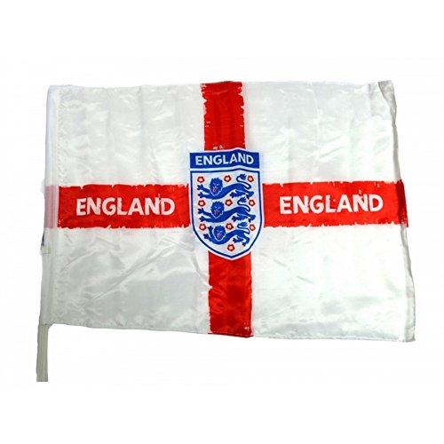 England Autoflagge mit offiziellem Fußball-Wappen (Einheitsgröße) (Weiß/Rot/Blau)