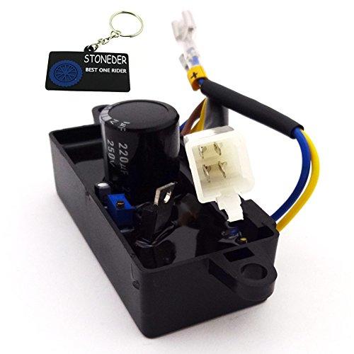 STONEDER AVR-Spannungsregler, Gleichrichter einphasig, für chinesische Gas-, Benzingenerator mit 2kW, 2,2kW, 2,5kW, 2,8kW, 3kW -