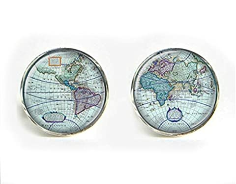 World/Earth Cufflinks and Cuff link presentation box (World 10)