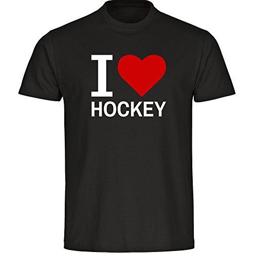 T-Shirt Classic I Love Hockey schwarz Kinder Gr. 128 bis 176, Größe:164 (Mädchen-hockey-t-shirts)