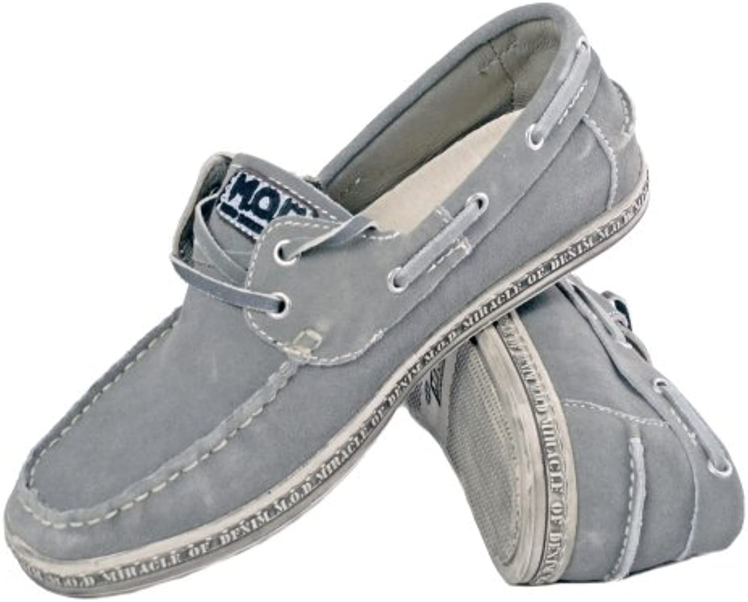 M.O.D Herren Leder Schuhe MIRACLE OF DENIM grey grau MOD ACS S 503
