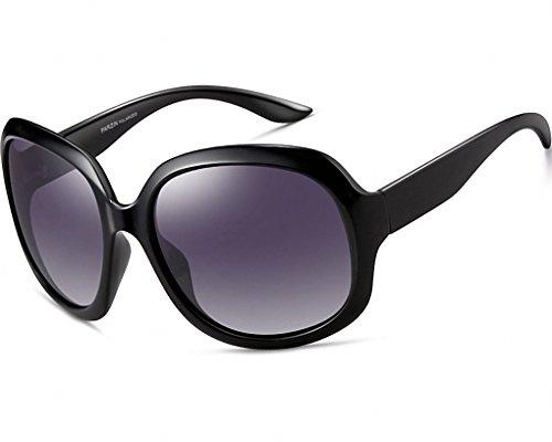 ATTCL Damen Polarisiert Sonnenbrille 100% UV400 Schutz 3113-schwarz