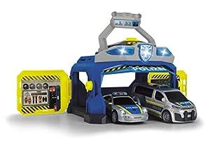 Dickie Toys 203715010 Command Unit, estación de policía, Juego de policía, Coche de policía con Muchas Funciones, Multicolor