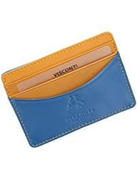 Visconti Lucca Collection RAMON Two Tone Slim Leather Credit Card Holder LC35