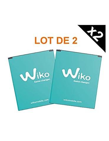 Lot de 2 batteries Wiko d'origine pour Wiko Slide