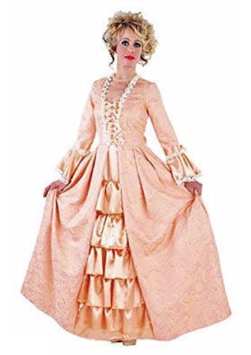M214169-XL-A lachs Damen Rokoko Barock Kostüm Kleid Prinzessin Marquise lang Gr.XL