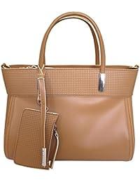 Sac designer italien grab sac en cuir de l'épaule Nicoli 'Chic' - brun tan
