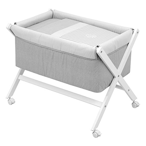 Cambrass X Wood Une Bed, Denim Grey, Small, 55 x 87 x 74 cm