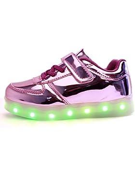 [Patrocinado]DoGeek Zapatos LED Niños Niñas 7 Color USB Carga Deportivas De Luces Zapatillas(Mejor Pedir Una Talla Más)