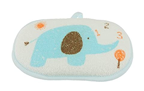 Cute Baby Boys Girls Terry Cotton Elephant Bath Fun Sponge Blue