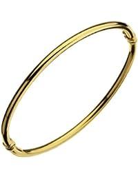 Bracelet Jonc Femme - Or Jaune 375/1000 (9 Cts) 3.4 Gr