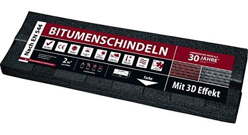 Bitumen-Schindel Quadrino - Schwarz 2 m²