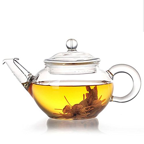 lifeyz 250ml (8.6oz) eine Tasse Tee klar klein Glas Teekanne Edelstahl Draht Sieb Deckel hitzebeständig Tee Topf für Tee (Die Draht-kaffee-tasse)