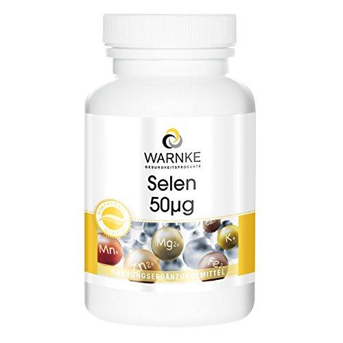 Selenio 50 µg – productos para la salud Warnke – 250 comprimidos – 75g