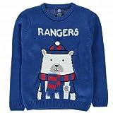 Official Rangers Kids Polar Bear Christmas jumper, unisex, Kids Size 9-10 Years