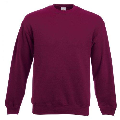 Fruit Of The Loom Unisex Premium 70/30 Sweatshirt (L) (Burgunderrot) F324N bestellen!!