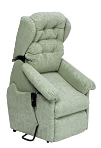Winged Seattle Dual Motor Riser Recliner Chair Rise & Recline Armchair - Green