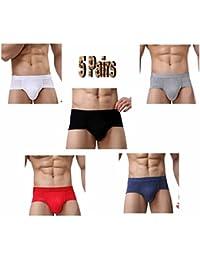 Hoerev hommes fibre de bambou slips sous-vêtements