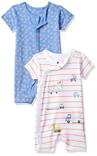 Mothercare Boys Car 2Pk Romper Barboteuse, Multicolore (Brights Multi 281), 74 cm(6-9 Mois) Bébé garçon