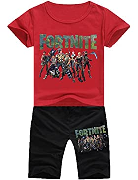 EMILYLE Unisex Fnite Pijama Casual Conjunto De Camiseta Y Pantalones Cortos Personajes Impreso Figura para Niño.