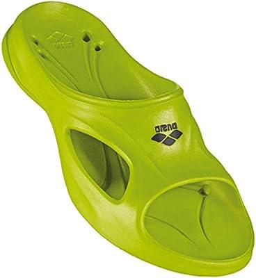 Arena Hydrosoft - Sandalia piscina para hombre, color Verde lima/Negro, talla 42