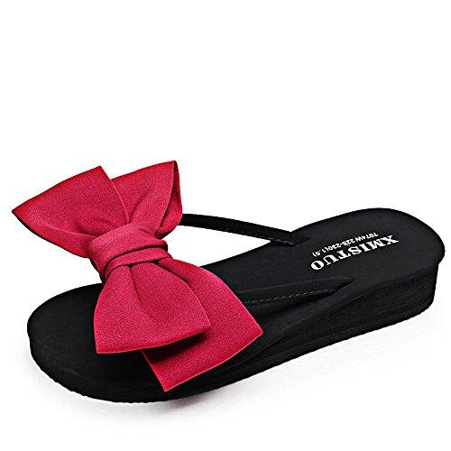 Estate Sandali Sandali / pantofole delle donne dei pistoni di modo di estate (colore rosso / nero / blu scuro / dentellare / giallo / azzurro) Colore / formato facoltativo Rosso