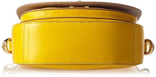 Tommy Hilfiger Th Twist Leather Medium Crossover, Sacs bandoulière Jaune (Freesia)