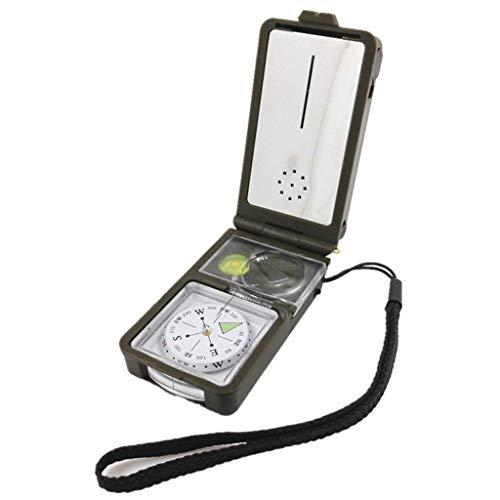 Unbekannt 10-in-1-Multifunktionskompass mit Lights Flints