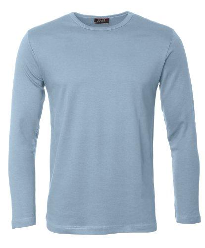 ID Herren Interlock T-Shirt langarm (XL, hellblau)