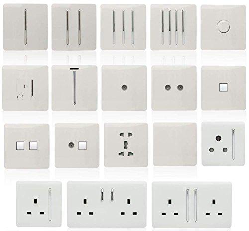 Trendi Switch - 1 Interruptor de Luz Basculante de 10 Amp Blanco...