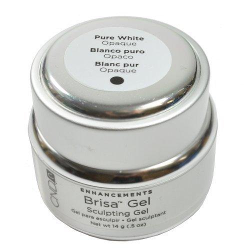 CND Brisa Sculpting Gel PURE WHITE Opaque Acrylic Spa Nail UV Enhancement .5 oz by CND - Creative Nail Design (English Manual)