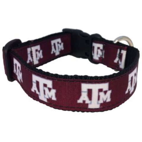 Game Day Dogs Texas A&M Aggies Hundehalsband, Large Texas A&m University Atm
