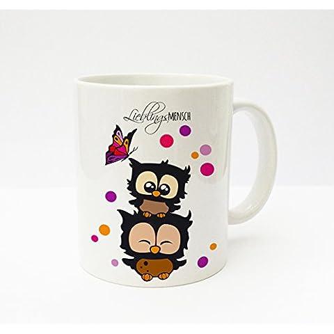 Tazza da caffè mug cup gufi coriandoli farfalla preferito uomo ts137
