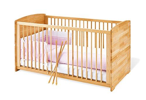 Pinolino - 112302 - Kinderbett Ole (140 x 70 cm) - mit 3 Schlupfsprossen aus vollmassiver Buche, geölt